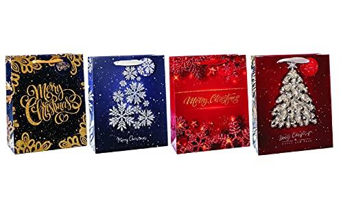Bolsa de regalo de papel de 18 x 10 x 23 cm, 4 colores surtidos