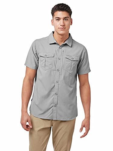 Craghoppers Herren Nl ADV Ss Shirt Hemd, Graue Wolke, XL