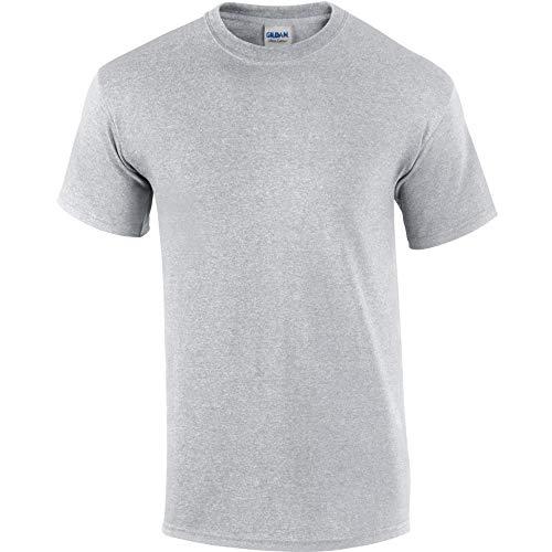 Gildan - T-shirt à manches courtes - Homme (2XL) (Gris cendre)