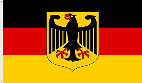CN Outdoor Deutschland Fahne Fan Flagge Fussball Hissflagge Hissfahne Nationalfahne Nationalflagge Qualitätsflagge Weltmeisterschaft Wetterfest WM EM 150x90 Adler BRD (Fahne mit Adler)