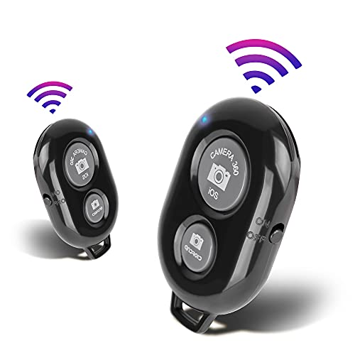 2 Pack Bluetooth Camera Remote Control - Bluetooth Remote for iPhone & Android Phones iPad iPod Tablet, Bluetooth Clicker for Photos & Videos