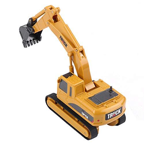 Dilwe Fernbedienung Bagger Spielzeug, Mini RC Engineering Truck Auto Baufahrzeug Spielzeug Geschenk für Kinder Kinder*