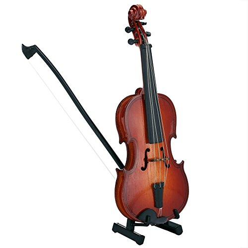 Mini-Violinenmodell, Holz-Violinen-Modell-Display, Musik-Ornament zum Basteln, Zuhause, Büro, Dekoration, Geburtstagsgeschenk, Dekoration