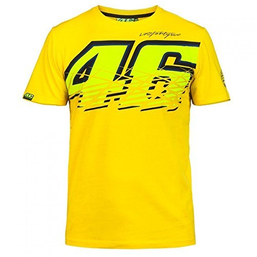 SANDO Herren T-Shirt VR46Valentino Gelb , X-Large