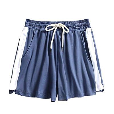 Dainzusyful Women's Summer Sports Shorts Running Dolphin Gym Performance Workout Ultra Soft Skinny Cotton Short Pants Blue