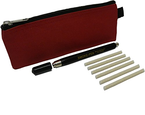 MeterMall S220-KIT-A Regin Smoke Pen with 6 Wicks and Carry Case. Dense, White Smoke Trail for Finding drafts and air leaks.