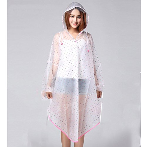 xiaowu Regen Jacke Erwachsene Mode Damen RegenmäNtel, Outdoor Wandern Poncho, 2