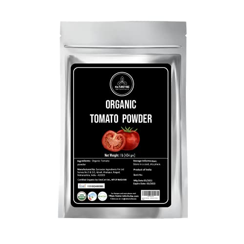 Naturevibe Botanicals Organic Tomato Powder 1lb (16 ounces) | Non GMO | Adds flavor and taste.. [Packaging may vary]