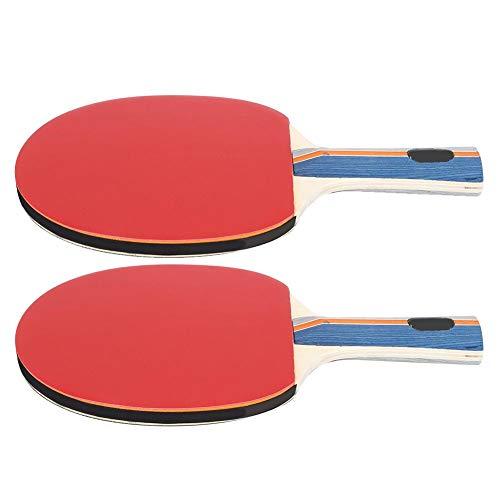 Redxiao 【𝐁𝐥𝐚𝐜𝐤 𝐅𝐫𝐢𝐝𝐚𝒚】 Bate de Tenis de Mesa Negro y Rojo de Alta Velocidad, 2 Raquetas de Tenis de Mesa, Buena sensación de Manos para Adultos y niños, práctica y Juego Informal