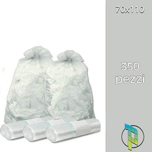 Palucart Sacchi spazzatura colore TRASPARENTE cm 70x110 (110 litri) 350 pezzi