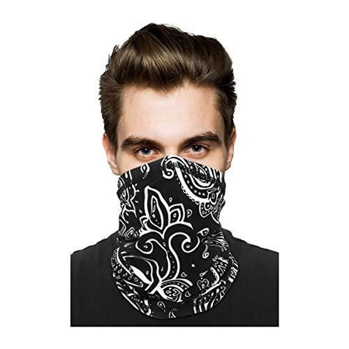 Neck Gaiter Face Mask Reusable, Sun UV Protection Face Cover Scarf, Elastic Face Masks Breathable Balaclava Bandana for Men Women