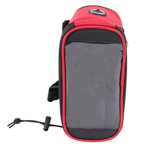 winomo Bike Bag Pouch Bike Frame Cyclisme Pannier Top Tube étanche Guidon poches Bike Pouch Téléphone support Sacoche de vélo écran tactile pour Smart Phone sous 5,5 pouces (Rouge)