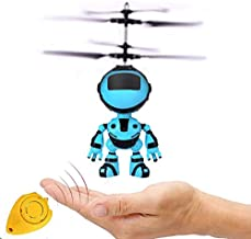 Anda Flying Helicopter Drone Toys Gifts for Boys & Girls Age 6 7 8 9-14 Years Old, Blue Mini Hand Control Flying Helicopter Fairy Doll Toys