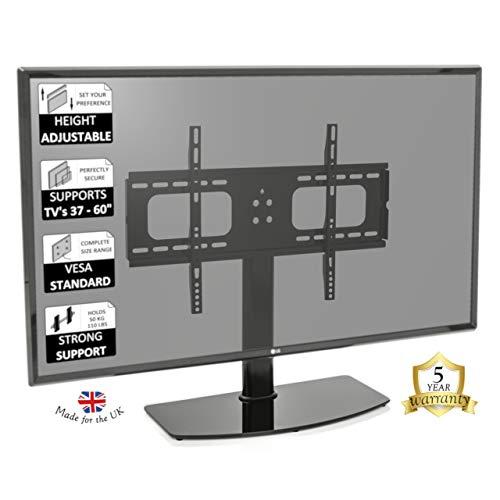 Universeel bruikbare tafelstandaard voor beeldschermen van 81,3 cm tot 127 cm, vervanging standaard voor LCD-, LED-, plasma-beeldschermen.