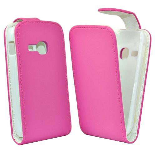 Telefono negozio Accesorio de Cuero Maestro para Samsung Galaxy Mini 2 S6500 Rosa
