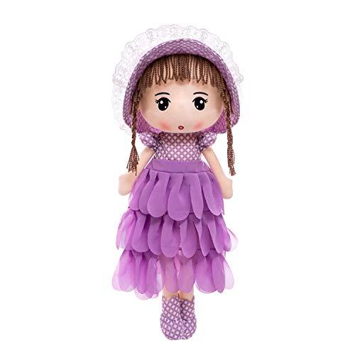 Muñecas de trapo de peluche de 40,64 cm para dormir suave amiga de peluche, muñecas de princesa para niñas, regalo de cumpleaños o fiesta de Navidad