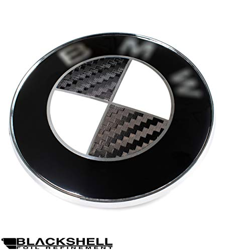 BLACKSHELL Emblem Aufkleber - 58 tlg. Set für alle Embleme am Auto in 3D Carbon Schwarz
