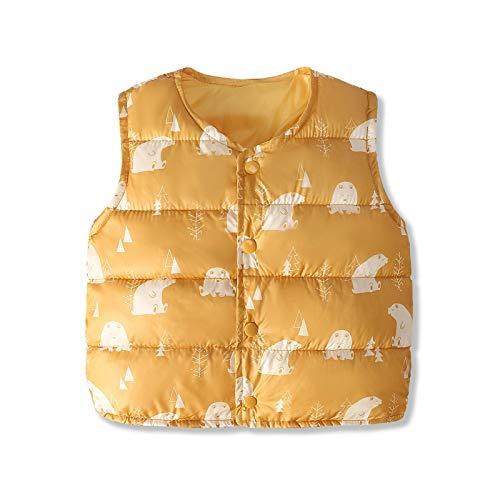 LOKKSI - Chaleco sin mangas para bebé, ropa cálida, para invierno, chaqueta de abrigo para bebé