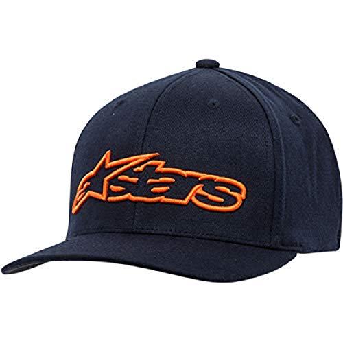 Alpinestars Blaze Flexfit Hat Gorra de béisbol, Azul (Navy/Orange 7032), Medium (Talla del Fabricante: S/M) para Hombre
