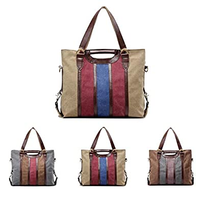 Queenie - Women's Medium/Large Capacity Causal Canvas Handbags Top Handle Tote Crossbody Shopping Bags Shoulder Bags