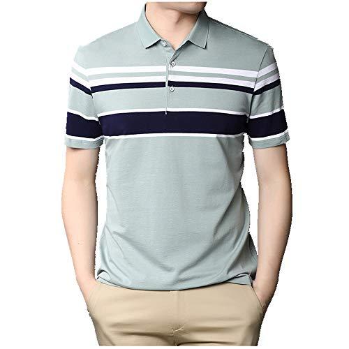 Camiseta fina de verano de manga corta para hombre verde XXL