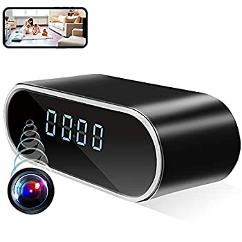 Alarm Clock Camera HD 1080P Wireless Camera Clock Mini Camera with Motion Detection and Night Vision Nanny Cam for Home Security and Office.