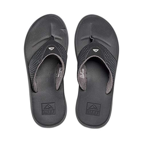 Reef Men's Sandals Rover   Water-Friendly Men's Sandal with Maximum Durability and Comfort   Waterproof   All Black   Size 11