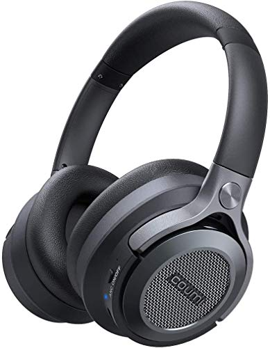 ワイヤレス ハイブリッド アクティブ ノイズキャンセリング(Hybrid ANC) 騒音が25dB削減できる Bluetooth5.0 φ40mmドラバー ハイレゾ高音質 マイク付き 最長20時間の長時間再生 ヘッドホン、coumi ANC-551L、 EVA収納 バッグ付属
