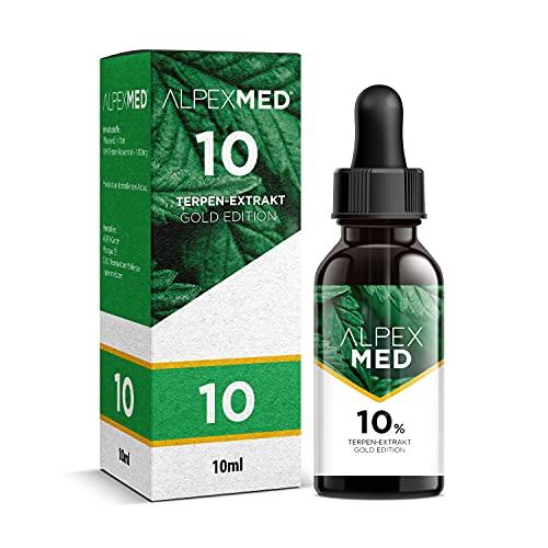 ALPEX-MED® 10 Prozent Terpen-Extrakt Tropfen in Apotheken Qualität 10ml | Milder Geschmack, hohe Wirksamkeit & Reinheit