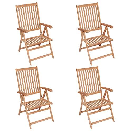 4er Set Gartenstuhl, praktischer Klappstuhl Bistrostühle Gartenstühle Stühle Essstuhl Wetterfeste Gartenmöbel, Gartenstühle im Retro-Stil, Balkonstuhl mit Rückenlehne für Garten Terrasse Balkon
