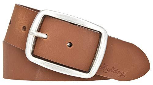MUSTANG Gürtel Damen Leder Pull-Up-Effekt Ledergürtel 40 mm Damengürtel (90, Cognac)