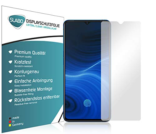 Slabo 4 x Bildschirmschutzfolie für Oppo Realme X2 Pro Bildschirmfolie Schutzfolie Folie Zubehör Crystal Clear KLAR
