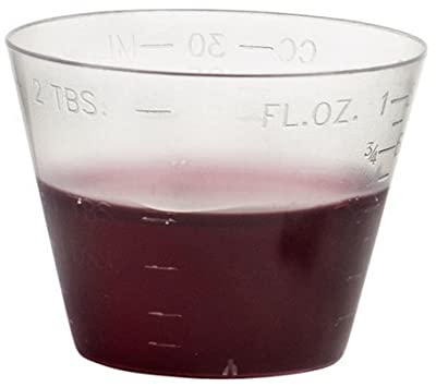 Vakly Disposable Graduated Plastic Medicine Cups