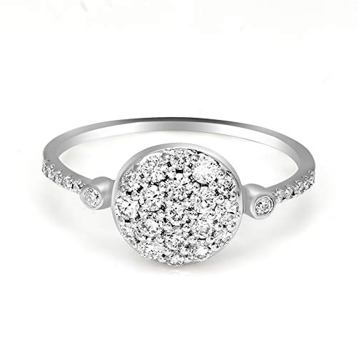 Mothers day gifts Diamond Ring for Mom Lab Created Diamond Ring Cluster Diamond Ring 1/2 Cttw...