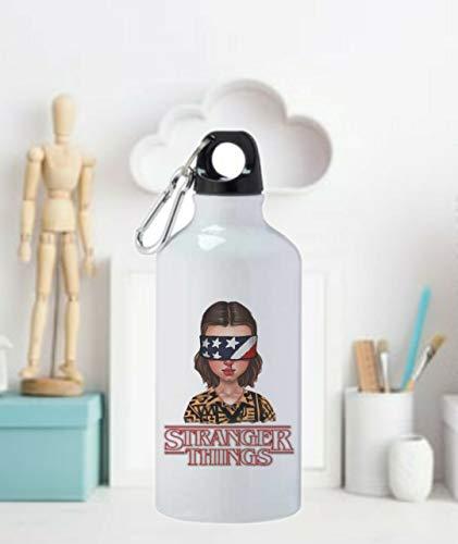 adaysusdetalles Termo Botella de Agua - Stranger Things Jarra 500ML,Regalo Cantimplora Aislado Cafe para Llevar Bidón Botella de Aluminio