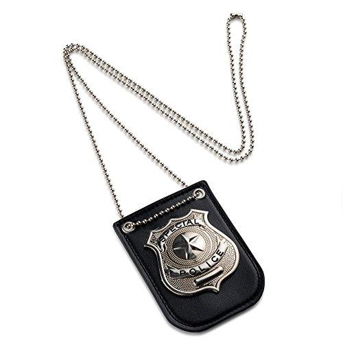 Dress Up America Juego de simulación Policía Insignia con cadena y clip de cinturón
