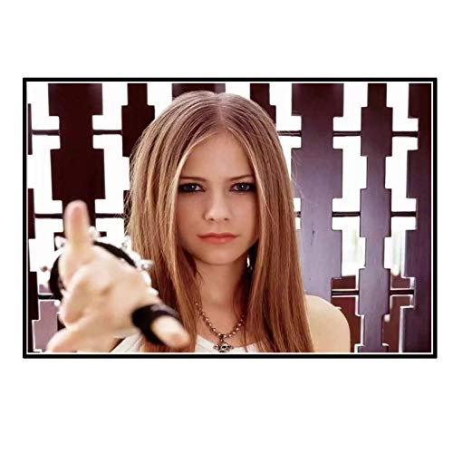 chtshjdtb Avril Lavigne Hot Singer Art Posters Wall Canvas Pictures Sala de estar Pintura Decoración -60X80 CM Sin marco 1 Uds