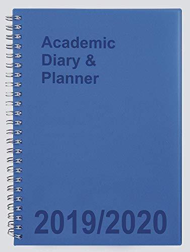 Tiger 2019-2020 - Agenda académica para estudiantes, doble alambre, tamaño A5, vista semanal, color azul