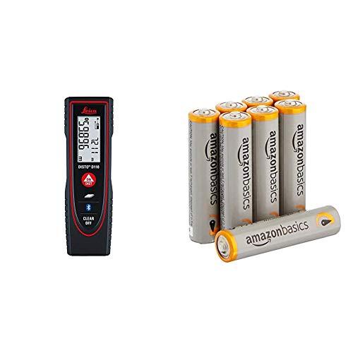 Leica Entfernungsmesser Disto D110, 16715000 & AmazonBasics Performance Batterien Alkali, AAA, 8 Stück (Design kann von Darstellung abweichen)