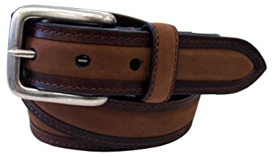 Columbia Men's Classic Belt-Work Business Casual with Stitch Design, Brown, 38