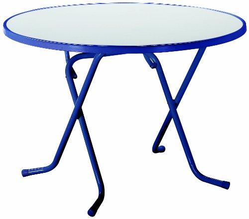 BEST 26528020 Schernklapptisch Primo rund, Durchmesser 80 cm, blau