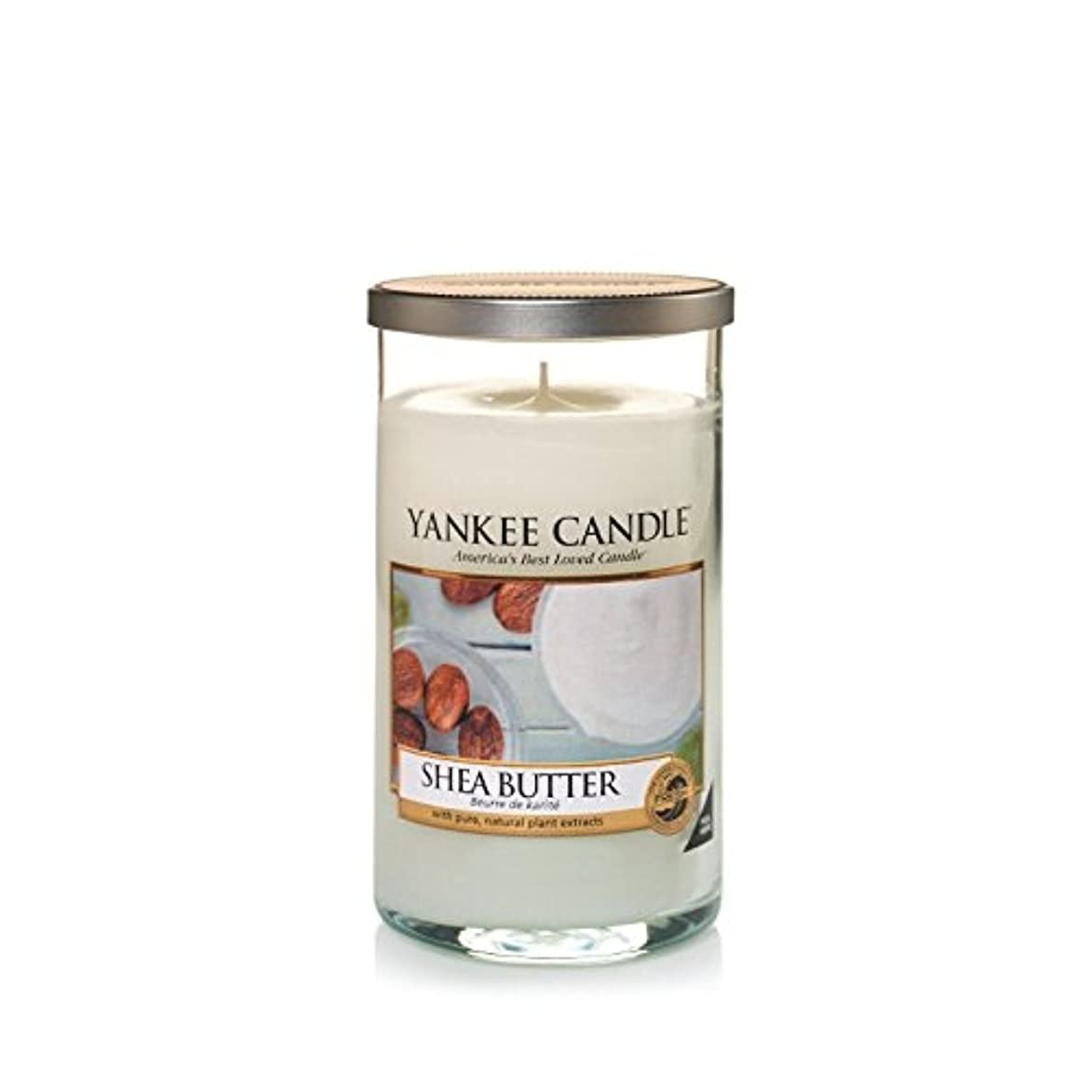 シンプトン探偵今までYankee Candles Medium Pillar Candle - Shea Butter (Pack of 2) - ヤンキーキャンドルメディアピラーキャンドル - シアバター (x2) [並行輸入品]