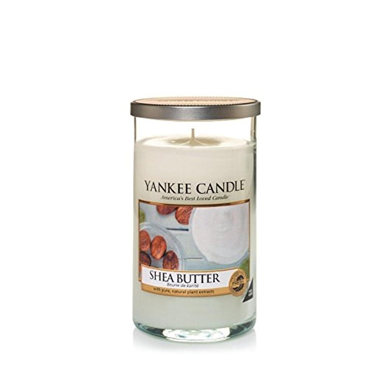 砂利淡い忘れられないYankee Candles Medium Pillar Candle - Shea Butter (Pack of 2) - ヤンキーキャンドルメディアピラーキャンドル - シアバター (x2) [並行輸入品]