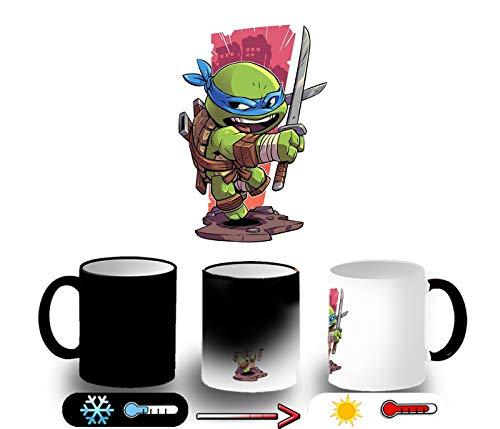 MERCHANDMANIA Taza MÁGICA Tortuga con Katana Magic mug
