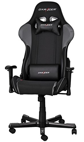 DXRacer FH11/NG Black Gray Formula Series Racing Bucket Seat Office Chair Gaming Ergonomic with Lumbar Support