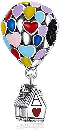 LaMenars Up House - Dije de dibujos animados para pulseras, colgantes de plata 925, cuentas para collares, para el día de la madre, cumpleaños, regalo de Navidad