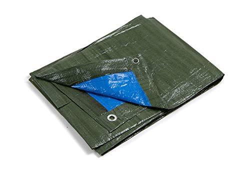 kippen 6064D1 Lona con ojales bicolor. Tamaño: 5 x 6 m, Verde y azul, 5X6 Mt