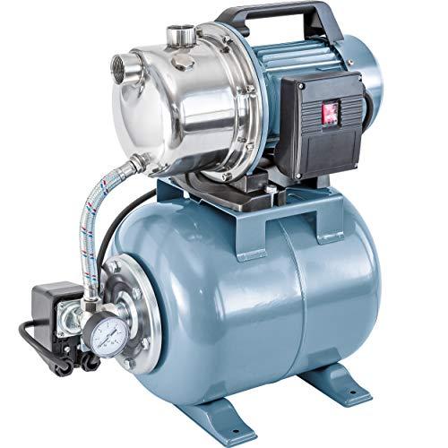 Hauswasserwerk 1100 W HWW 4600/E | Wasswerk mit hochwertigem Gehäuse aus Edelstahl