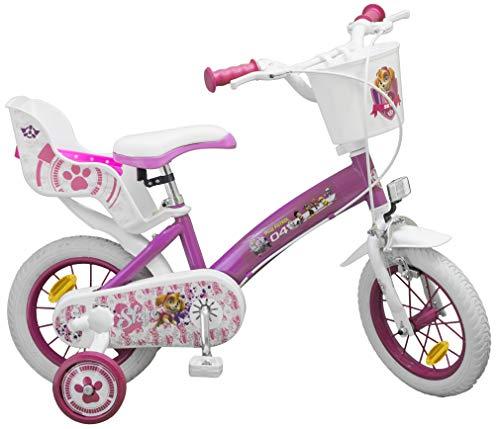 Toimsa Heroes Paw Patrol Vélo pour Enfant sous Licence la Pat'Patrouille Fille 12 Pouce de 3 à 5 Ans, 1271