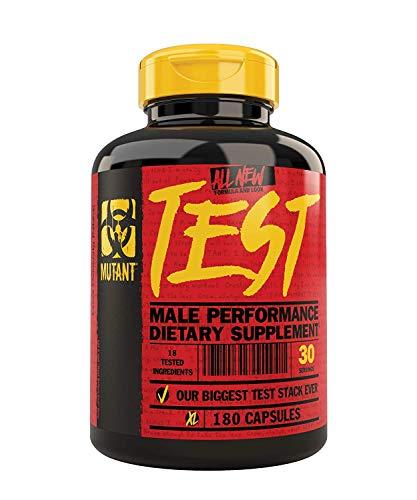 Preisvergleich Produktbild MUTANT TEST / Natürlicher Testosteron-Booster - Pro-Formel - 180 Kapseln pro Packung